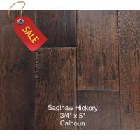 "Saginaw - Calhoun - 3/4"" x 4 3/4"" Solid Hand-Scraped Hickory Flooring"
